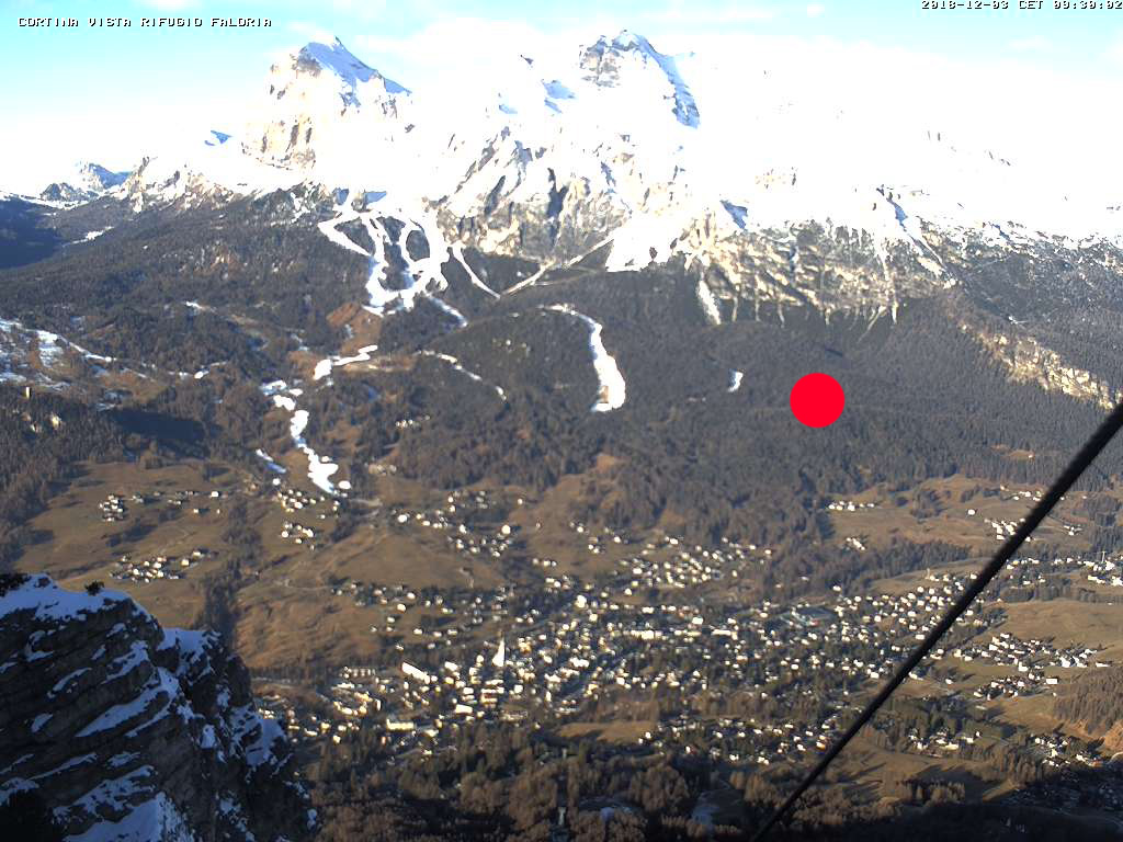 Webcam di Cortina d'Ampezzo vista dal Monte Faloria - Dolomiti Superski,